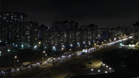 Night Traffic Jam Time Lapse stock footage