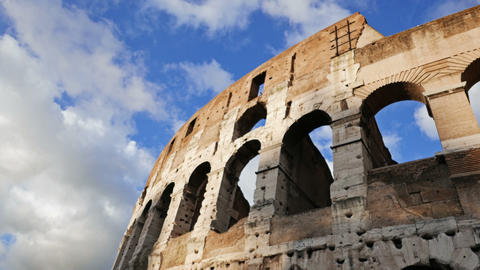Coliseum View Over The Blue Sky stock footage