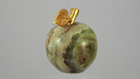 Apple malachite. Souvenir. 4K Footage