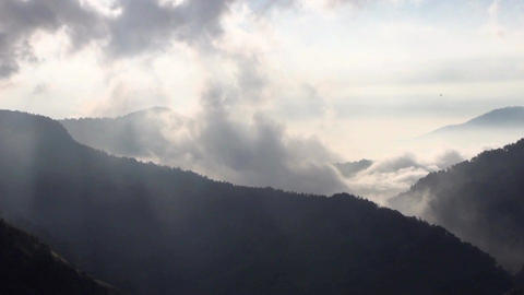 Cloud And Mountain Landscape Time Lapse stock footage