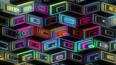 Neon Pattern 001 B Beat Random GTC Animation