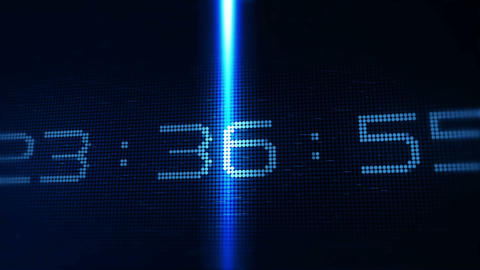 Technology Style Countdown For The New Year stock footage