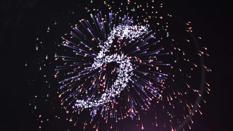 Firework Style Countdown For The New Year stock footage