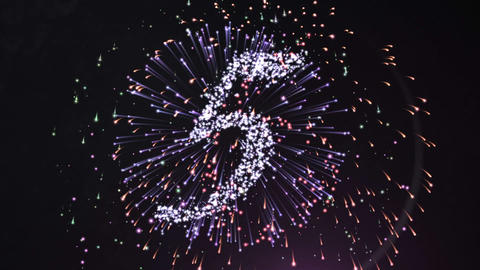 Firework style countdown for the new year Animation