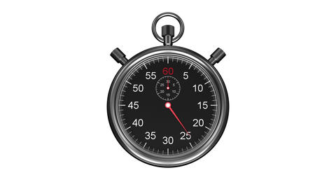 Stopwatch timing on white background Animation