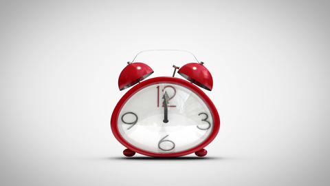 Cute alarm clock counting to midnight Animation