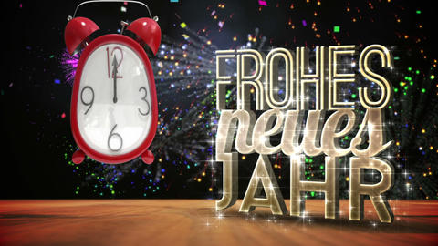 Cute Alarm Clock Counting To Midnight stock footage