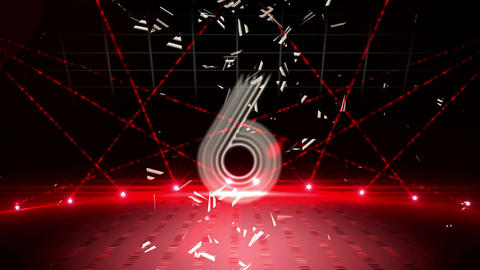 Countdown to midnight in disco style for 2015 Animation
