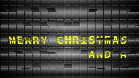 Merry christmas message on black roller board Animation