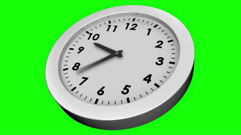Ticking clock on green background Animation