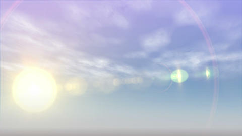 Moon and sun rising and falling Animation