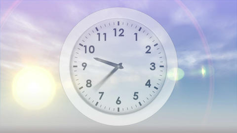 Moon And Sun Rising And Falling With Clock stock footage