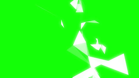 Geometric Shapes On Green Background stock footage