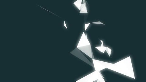 Geometric shapes on dark background Animation