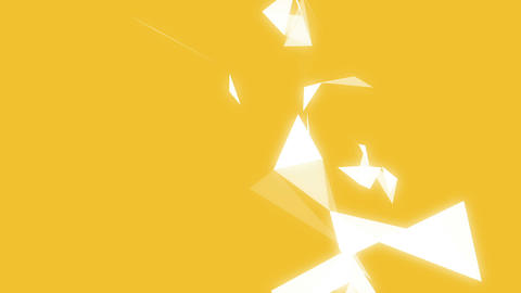 Geometric shapes on yellow background Animation