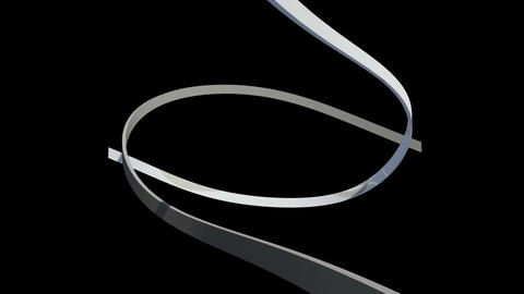 White Lines Swirling On Black Background stock footage