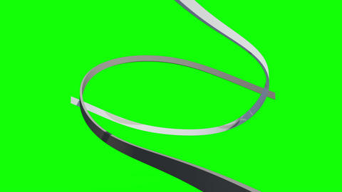 White Lines Swirling On Green Background stock footage