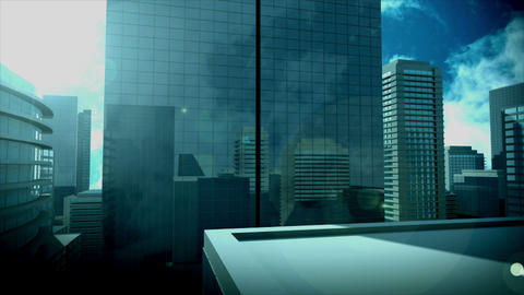 Copy Space Over High Skyscrapers stock footage