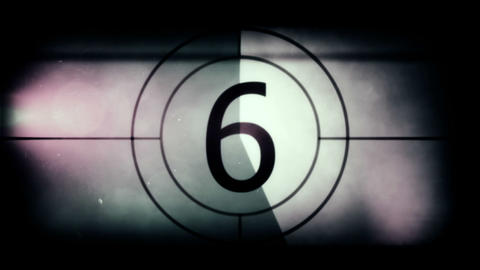 Retro Film Strip Countdown stock footage