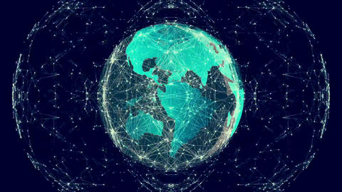 Mirror Image Pattern Moving Over Earth Graphic stock footage