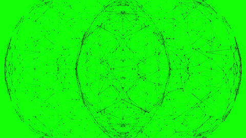 Mirror image pattern moving in a sphere Animation