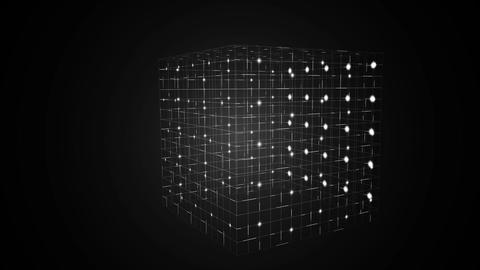 Grid moving on black background Animation
