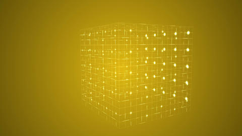 Grid moving on yellow background Animation