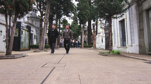Cemetery In Recoleta stock footage