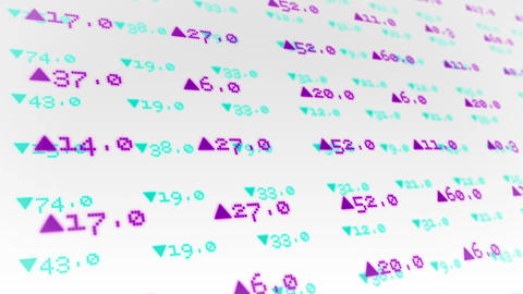 Stocks And Shares On White Background stock footage