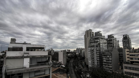 Moody sky over Buenos Aires Footage
