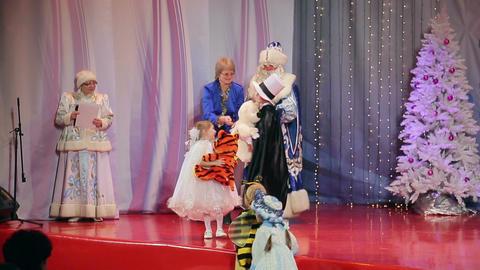 New Year's children's costume contest, presentatio Live Action