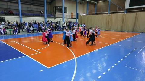 Children's Ballroom Dancing Tournament, Time-lapse stock footage