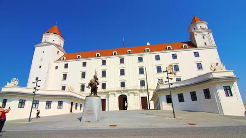 Timelapse of the Castle in Bratislava, Slovakia Footage