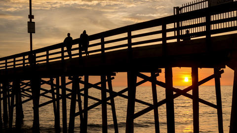 Balboa Pier Sunset Time Lapse Footage
