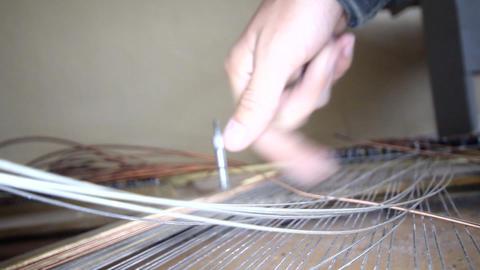 thrown broken piano sound of strings Footage