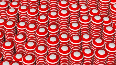 circular red stripe Animation