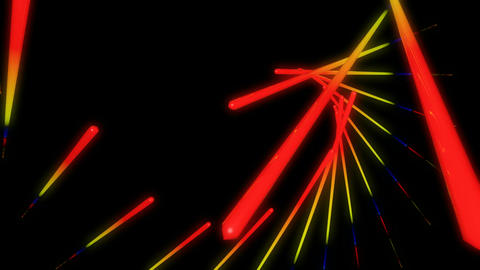 flying neon stick Animation