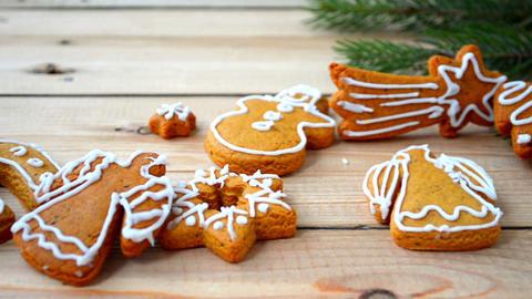 Christmas gignger cookies Footage