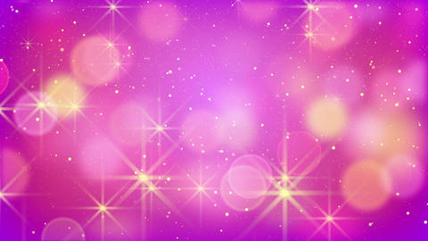 purple bokeh lights and fairy dust loopable backgr Animation