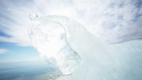 Panoramic Motion Along the Ice Horse Footage