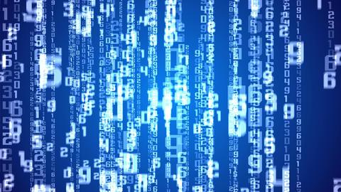 Matrix background on Blue Animation