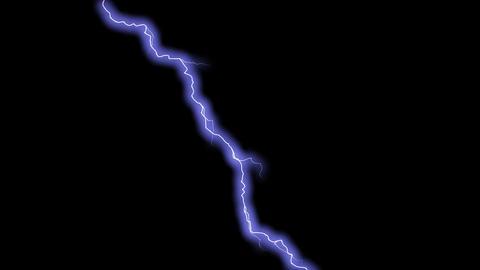 Lightning Bolt - 7 - Strike - Blue - Glowing Animation