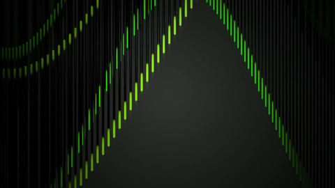 green wave lines Animation