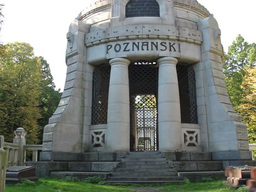 Izrael Poznanski Mausoleum - The Jewish Cemetery stock footage