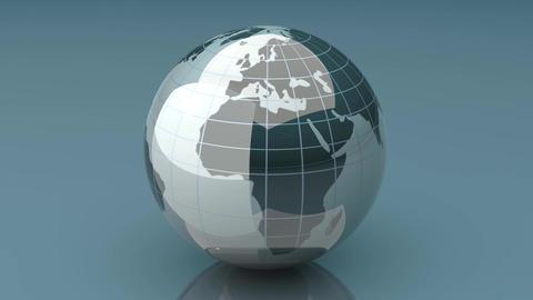 Spinning Globe Stock Video Footage