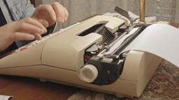 Typewriter angled view 2 Footage