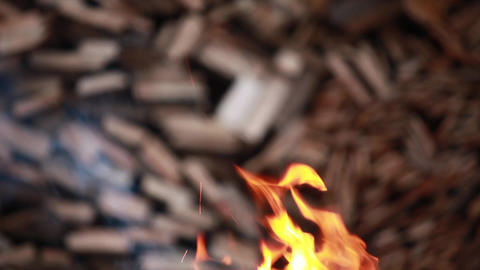 Flames Of Fire Inferno Abstract Background stock footage