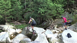 Bicycle stunts. Bike jumping 3 Live Action