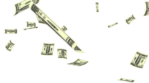 Raining Dollars stock footage
