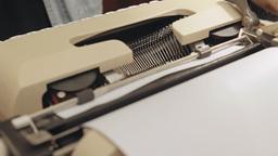 Typewriter dutch angle 2 Footage